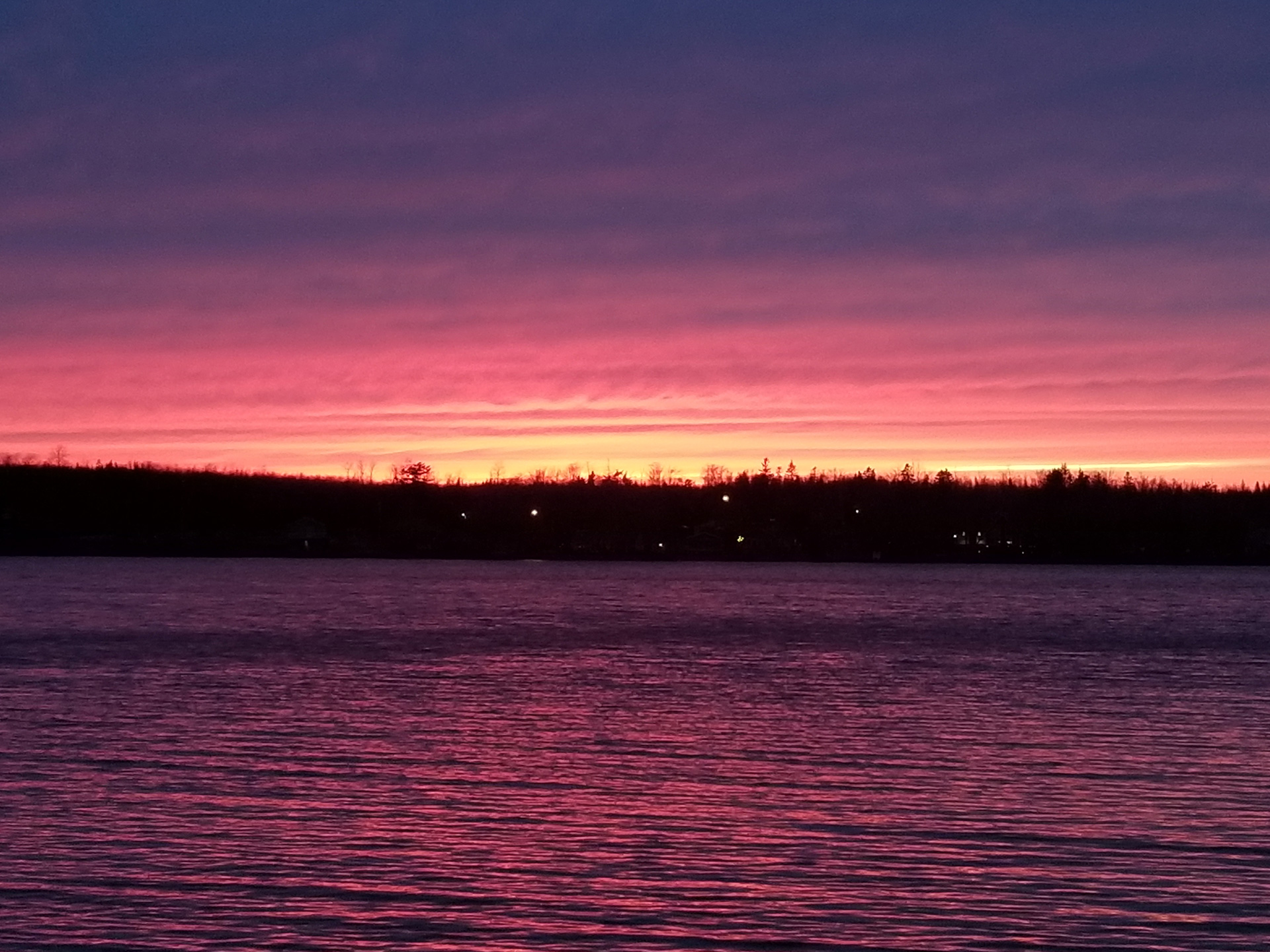 Sunset on the lake April 22, 2020