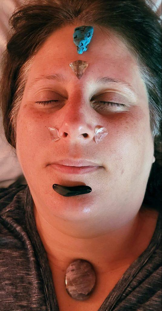 Client receiving the Blissed Out Facial Rejuvenation
