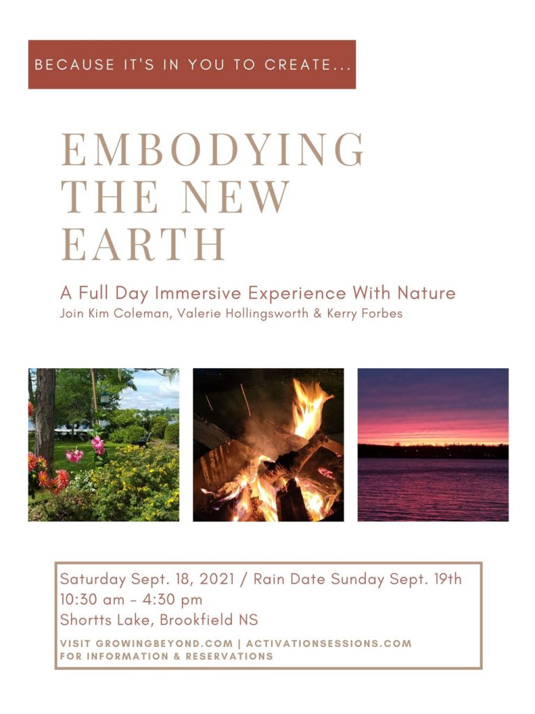 Because it's in you to create... Embodying the New Earth - A full day immersive experience with nature.
